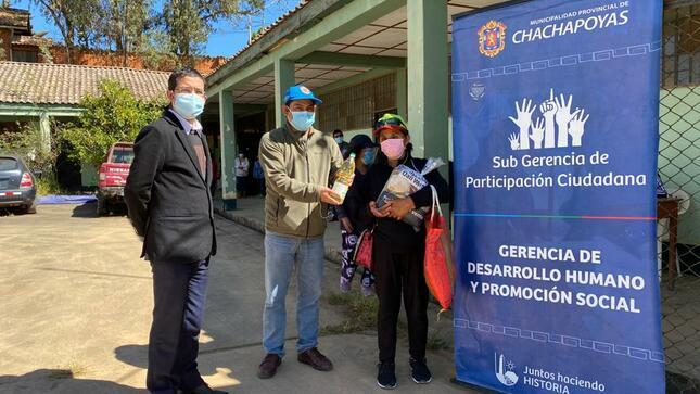 👏🥫 MPCH entrega canastas de víveres a familias vulnerables