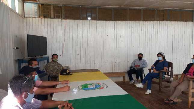 Alcalde Ronaldo Tovar Alva se reunió con autoridades locales