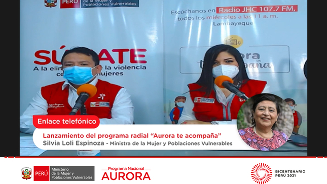 "MIMP lanzó programa radial ""Aurora te acompaña"" para prevenir la violencia de género"