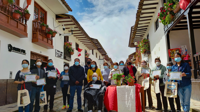 Reconocen aporte de los vecinos del Jr. Amazonas por embellecer la ciudad de Chachapoyas