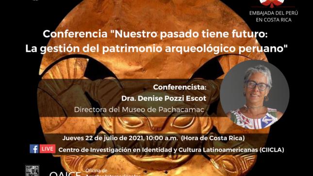 Bicentenario del Perú - Conferencia magistral de la Directora del Museo de Pachacamac