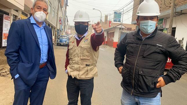"""de avance de obras al proyecto: """"Renovación de veredas en la vía urbana del Jirón Pedro Reyes Barboza y Jirón Leoncio Prado"""
