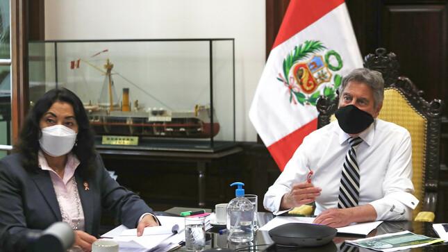 Premier Violeta Bermúdez destacó en sesión del CONASEC desempeño de la PNP y del Ministerio del Interior en la vacunación contra la COVID-19