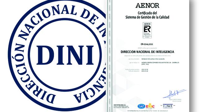 DINI obtiene Certificación de Calidad ISO 9001 para el Proceso de validación de Activos Críticos Nacionales