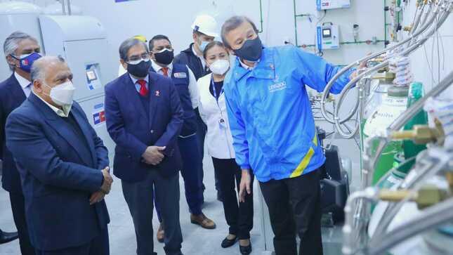 Nueva planta de oxígeno entra en funcionamiento para atender a pacientes Covid-19 del INR en Chorrillos