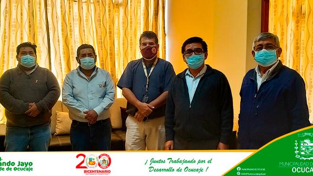 Alcalde de Ocucaje sostuvo reunión de coordinación con la Dirección Regional de la Producción Ica