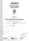 Vista preliminar de documento Certificado del Sistema de Gestión de Calidad en ingles