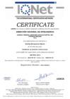 Vista preliminar de documento Certificado IQNet por el sistema internacional