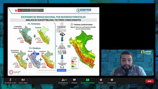 """Cenepred: """"Prevención y reducción del riesgo de desastres ante incendios forestales en el país"""""""