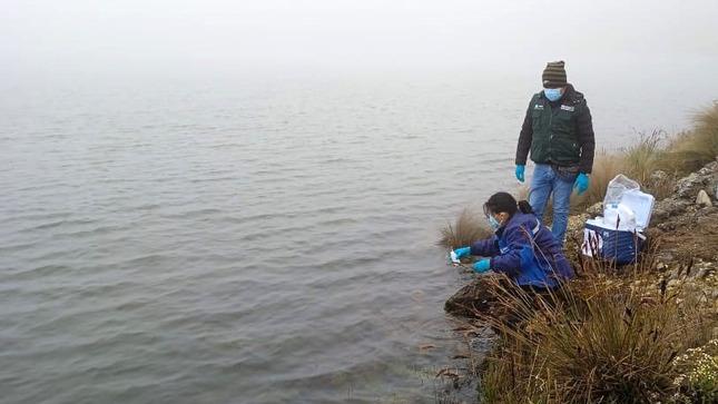 ANA realiza monitoreo de calidad de agua en laguna Aguas Coloradas