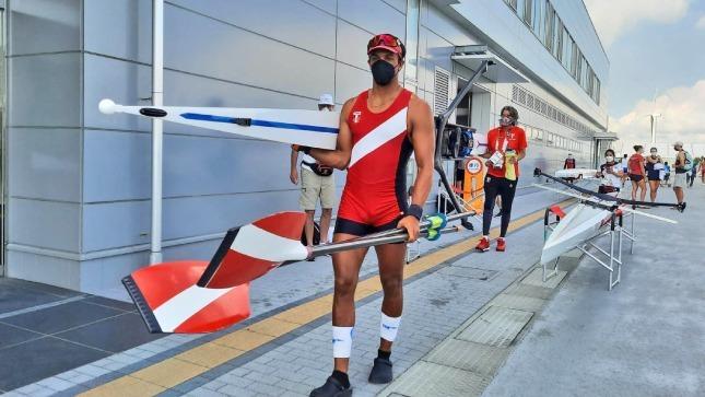 Gran debut del remero Alvaro Torres en los Juegos Olímpicos de Tokio
