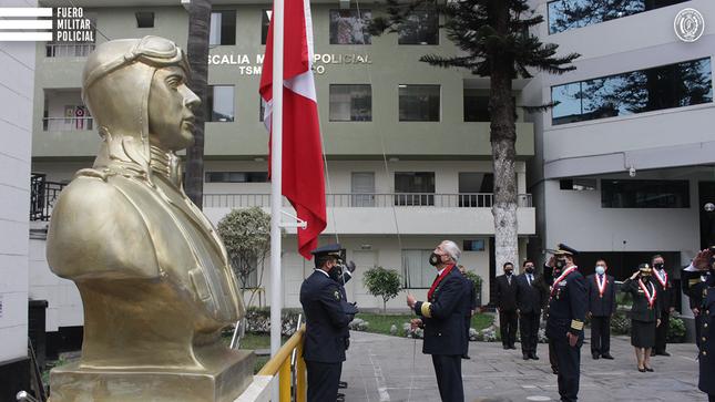Fuero Militar Policial rinde homenaje a la Fuerza Aérea en su día institucional