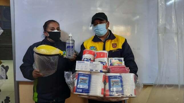 Municipalidad entrega equipos de bioseguridad a operarios de limpieza