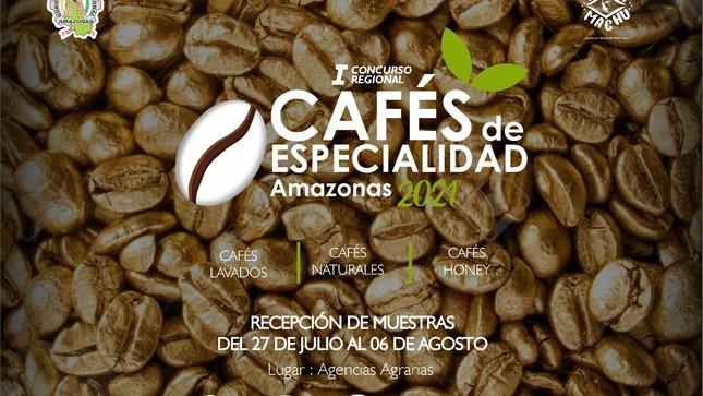 """Lanzamiento del """"I concurso Regional de Cafés de Especialidad Amazonas 2021"""""""