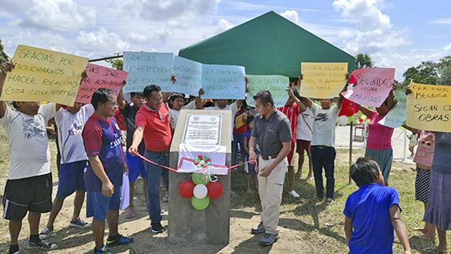 Comunidad de Najaim Paraíso ya cuenta con nueva losa deportiva