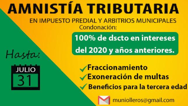 Amnistía tributaria sigue vigente hasta el 31 de julio