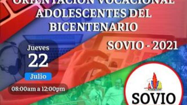 """La Dirección Regional de Trabajo y Promoción del Empleo invita a la Feria vocacional virtual - """"Adolescentes del Bicentenario"""" – Sovio 202"""