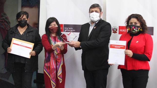 Dos iniciativas el Minedu fueron premiadas en el concurso Buenas Prácticas en Gestión Pública 2021
