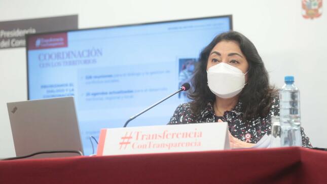 Premier Violeta Bermúdez destaca articulación con distintos sectores teniendo como foco prioritario la lucha contra la COVID-19