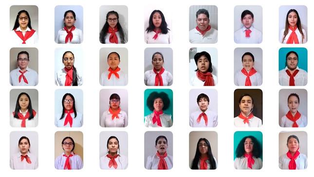 Coro de estudiantes de Orquestando participa en concierto  por el Bicentenario