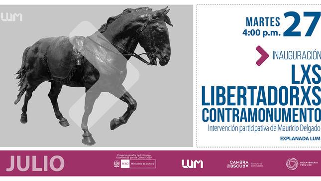 """LUM inaugura """"Lxs Libertadorxs. Contramonumento"""",  escultura  que emula al  caballo del libertador José de San Martín"""