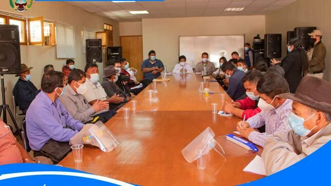Importante reunión con el Gobernado Regional de Ancash.