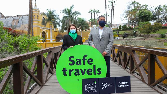 Mincetur entrega el sello internacional Safe Travels a Barranco