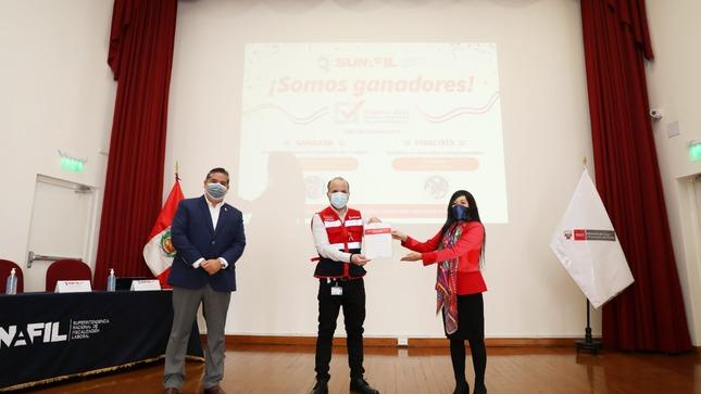 SUNAFIL recibe premios del concurso Buenas Prácticas en Gestión Pública