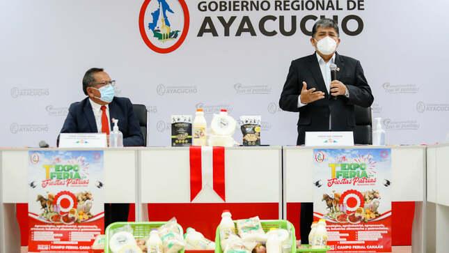 Oficializan primera expo feria  por fiestas patrias Ayacucho 2021
