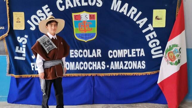 Alumno de IE de Pomacochas logró primer puesto en Concurso Virtual Nacional de Disertación