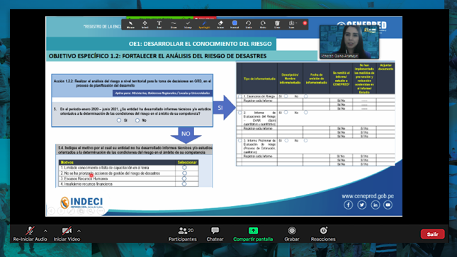 504 responsables en GRD fueron capacitados en el registro de información de la Enagerd 2020-2021