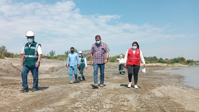ANA supervisa zonas de extracción de material de acarreo en el río Chira