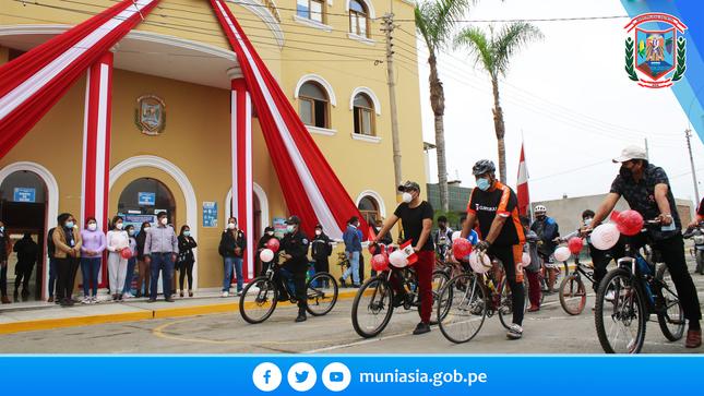 Con gran éxito se realizo la gran bicicleteada por el 57° Aniversario de Asia