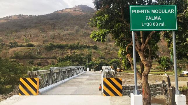 MTC instaló 12 puentes modulares en Piura como parte de Reconstrucción con Cambios