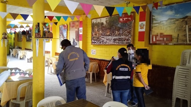 Realizan operativo conjunto en restaurantes de Catacaos