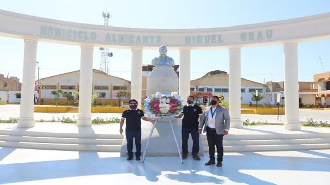 Ceremonia en el 187° aniversario del natalicio del Almirante Miguel Grau Seminario
