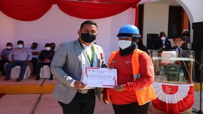 Clausura del segundo grupo de Trabaja Perú