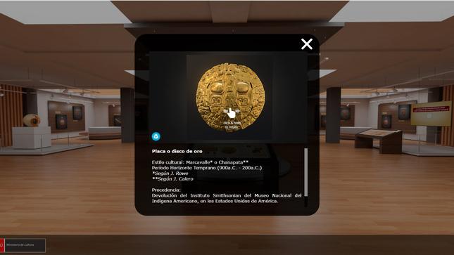 Ministerio de Cultura presenta exposición virtual sobre bienes culturales repatriados