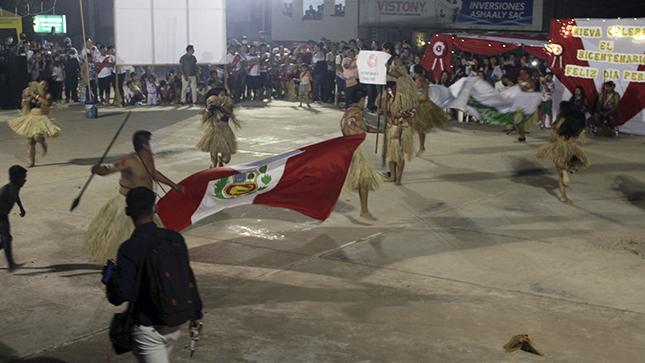 Gerencia Sub Regional Condorcanqui participó en noche cultural por el Bicentenario del Perú