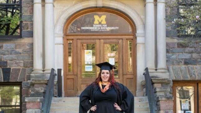 Maite, la peruana que se gradúo con una nota casi perfecta en la Universidad de Michigan