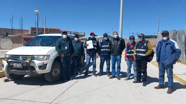 Autoridad Nacional del Agua entrega vehículo a la Junta de Usuarios del Sector Hidráulico Alto Apurímac