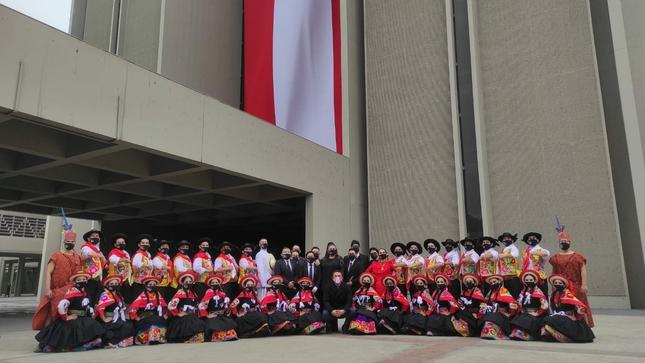 Danza y música peruana en la Parada Cívico Militar 2021