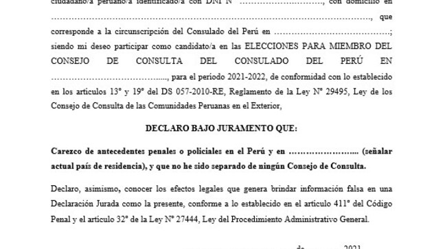 Convocatoria Elección del Consejo de Consulta