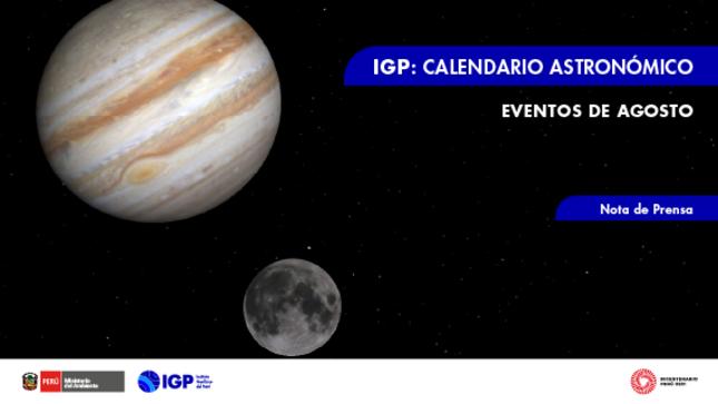IGP: Danza planetaria y lluvia  de meteoros en agosto