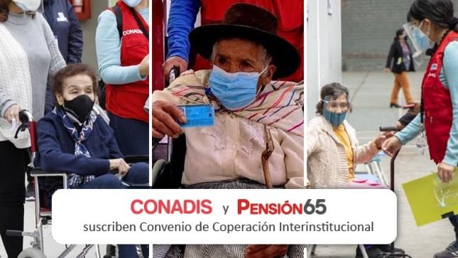 Conadis y Pensión 65 unen esfuerzos a favor de los Adultos mayores con discapacidad