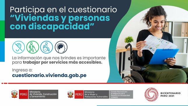 """Publican cuestionario sobre """"Viviendas y personas con discapacidad"""" para recoger información accesible."""