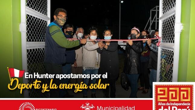 En Hunter apostamos por el Deporte y la energía solar - Vecinos del  P.J.Villa San Isidro