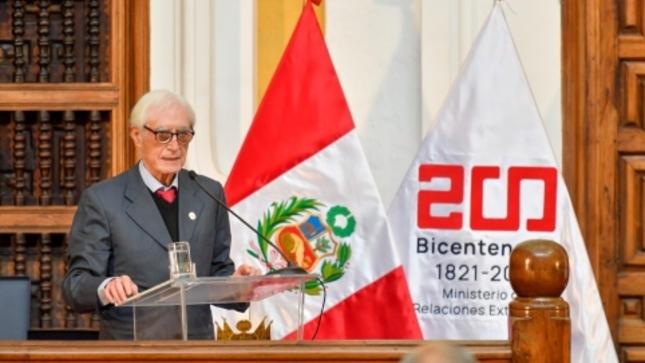 Discurso del Ministro de Relaciones Exteriores, Sr. Héctor Béjar Rivera, en la ceremonia de asunción del cargo