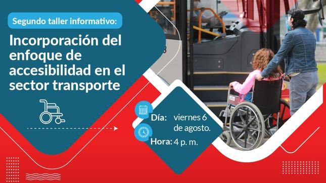 MTC te invita al taller gratuito 'Incorporación del enfoque de accesibilidad en el sector transporte'