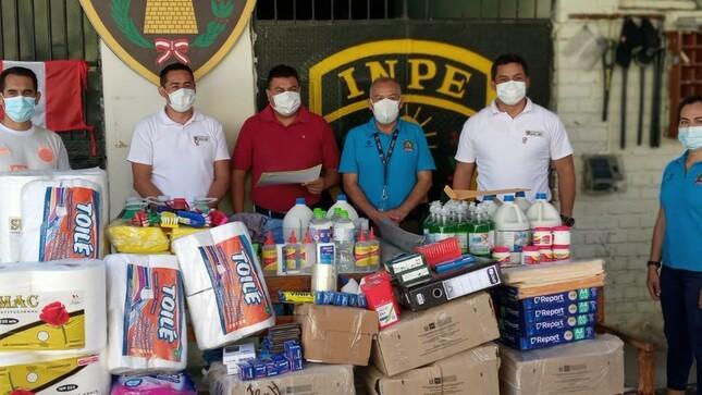 Penal de Bagua Grande recibe donación de útiles para el área educativa